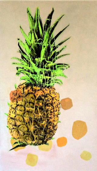 ananas 2019  arcryl / cotton   200 x 120